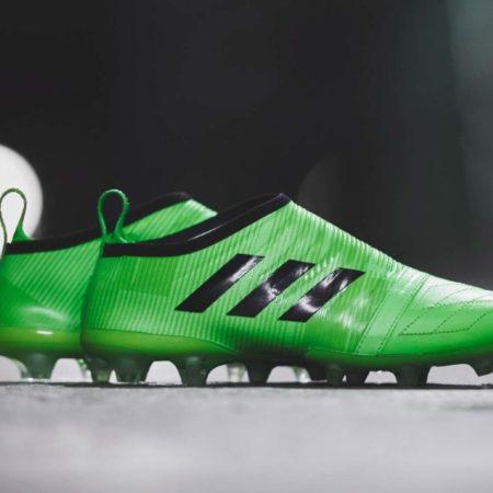 Ярко-зеленые Adidas Glitch