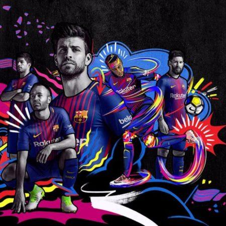 Домашний комплект формы Барселоны 17-18