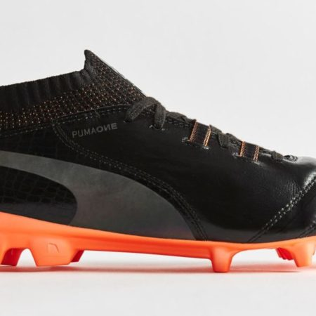 "Бутсы PUMA One Lux ""Black/Shocking Orange"""