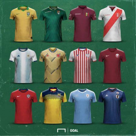 Форма сборных на Кубке Америки 2019